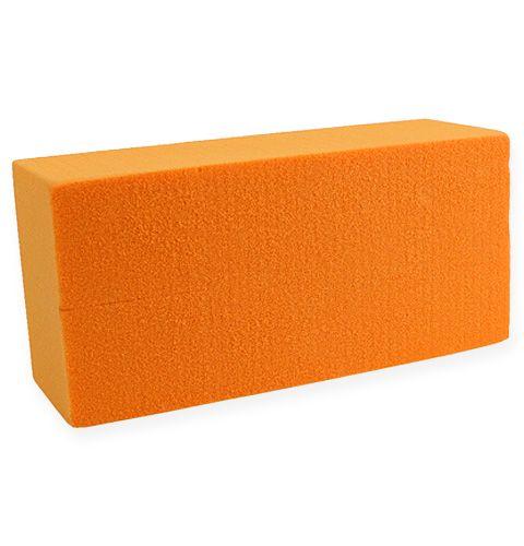 Steckschaumziegel Rainbow Orange 4St