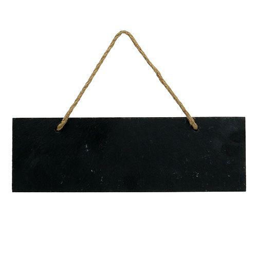 Schieferschild Schwarz 28cm x 9cm zum Hängen