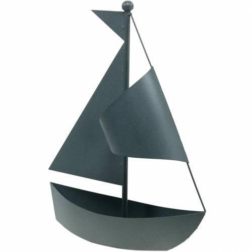 Segelboot zum Bepflanzen Metall 44cm × 34cm