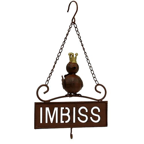 """Schild zum Hängen """"Imbiss"""" Braun 20cm L31cm"""