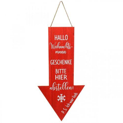 Dekoschild zum Hängen Weihnachtsmann Weihnachtsdeko 30×60cm