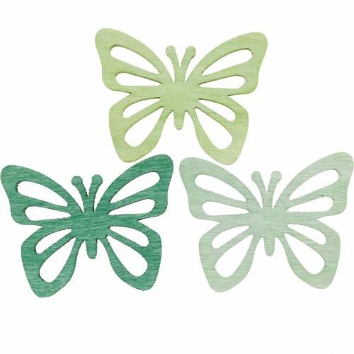 Streudeko Schmetterlinge, Frühling, Schmetterlinge aus Holz, Tischdeko zum Streuen 72St