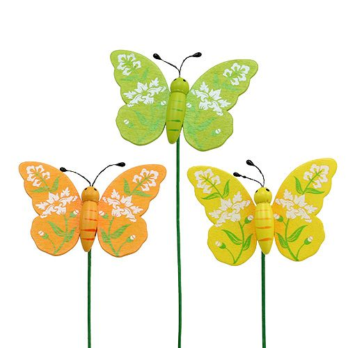 Schmetterling bunt sort. 6cm L25cm 15St