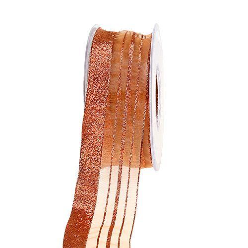 Schmuckband mit Lurexstreifen Kupfer 40mm 20m