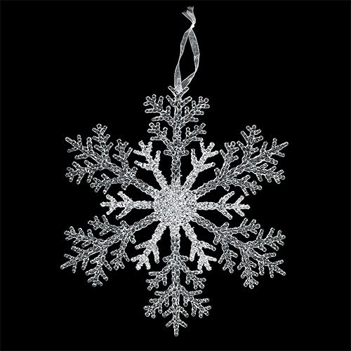 Schneeflocke 25cm transparent