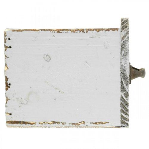 Pflanzschublade Shabby Chic Holz Schublade Grau 12,5×12,5×11cm