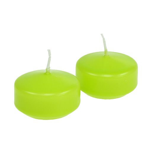 Schwimmkerzen Grün 4,5cm 8St