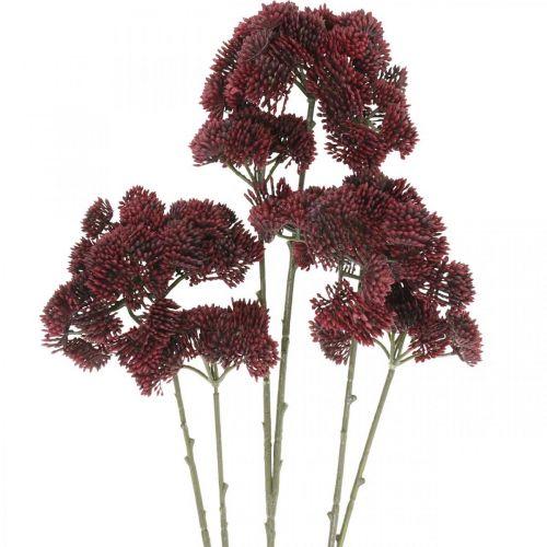 Sedum künstlich Rot Fetthenne Herbstdeko 70,5cm 3St