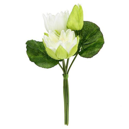 Seerosen künstlich weiß 38cm