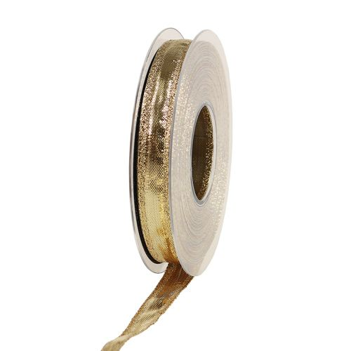Band mit Drahtkante Gold 15mm 25m