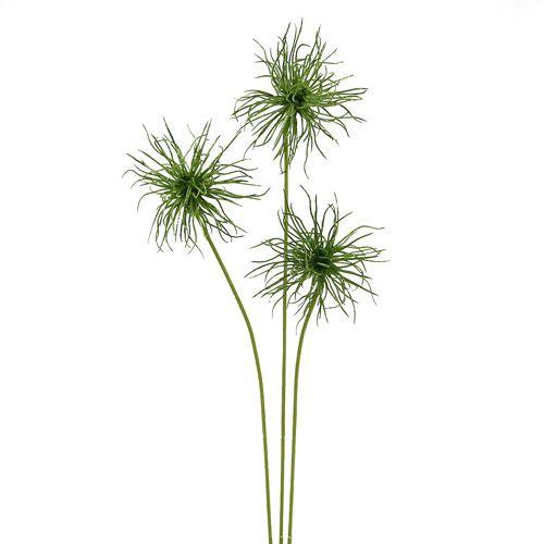 Seidenblumen Xanthium  grün 63cm 4St
