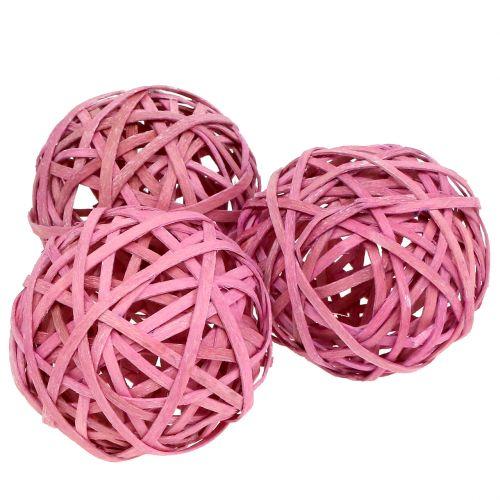 Spanball Rosa Ø6cm 6St