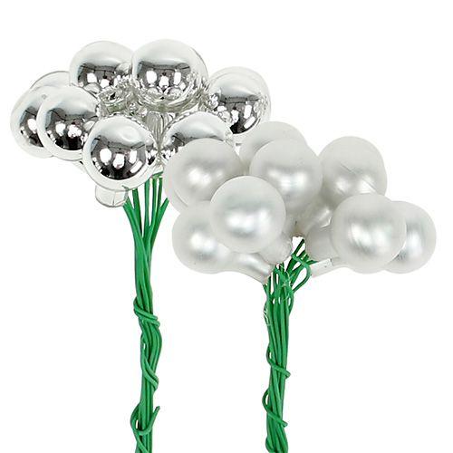 Spiegelbeeren Silber Matt, Glänzend Ø1,5cm 140St