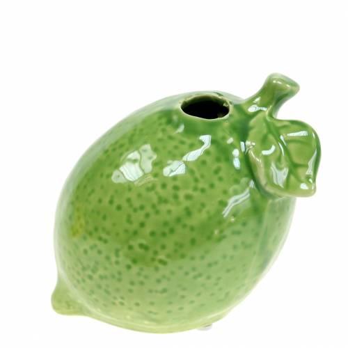 Steingutvase Limette Grün 10cm