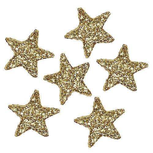 Stern Glitter 1,5cm zum Streuen Gold 144St