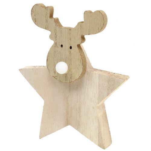 Rentier Weihnachtsdeko Holz 14cm X 17cm Grosshandel Und Lagerverkauf