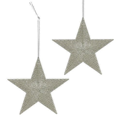 Stern Silber zum Hängen 11cm L19cm 6St
