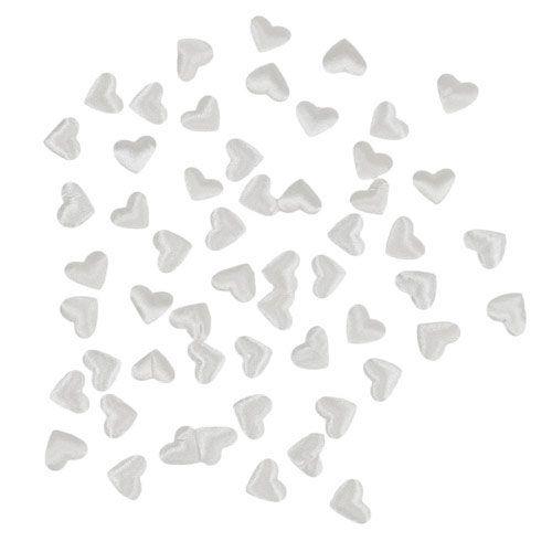 Herzen zum Streuen Weiß 1,3cm 500St