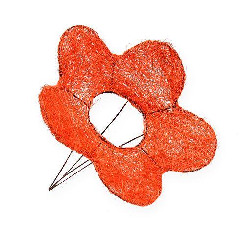 Sisal-Blumenmanschette Orange Ø20cm 8St