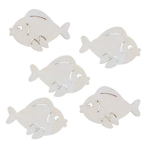 Streu-Fische Weiß 4cm 48St