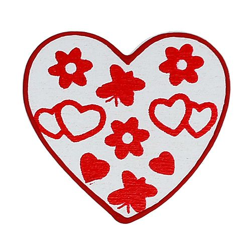 Streu Herzen sort. 3cm 24St