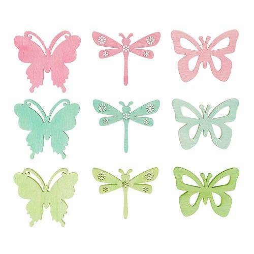 Streuartikel Schmetterlinge & Libellen 4cm 72St
