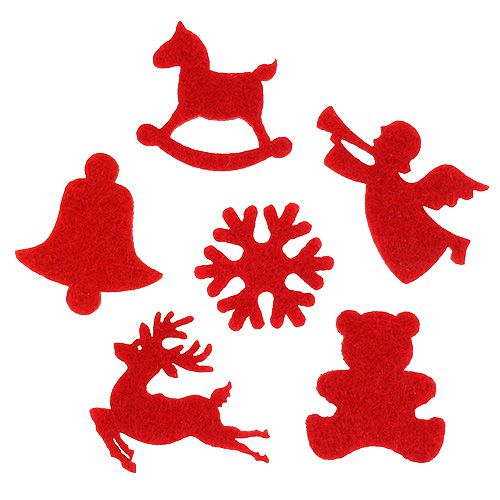 Streudeko Filzfiguren Rot 3cm 72St