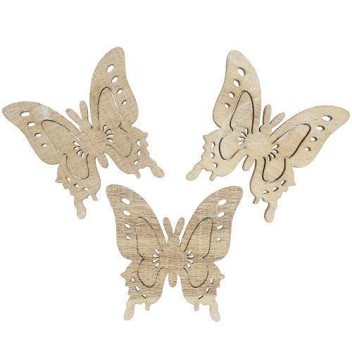 Streudeko Schmetterling Natur 4cm x 4cm 72St