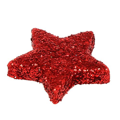 streudeko weihnachten stern rot 2 5cm 100st gro handel. Black Bedroom Furniture Sets. Home Design Ideas