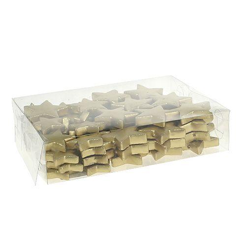 Streudeko Sterne Mix 4-5cm gold matt 72St