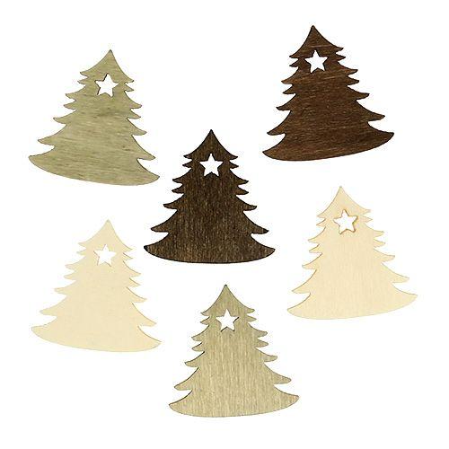 streudeko f r weihnachten tannenbaum 4cm 72st gro handel. Black Bedroom Furniture Sets. Home Design Ideas
