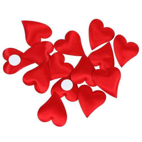 Deko-Herzen mit Klebepunkt Rot 3cm 100St