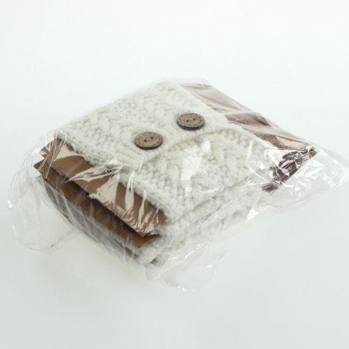 Strickschlauch 10cm x 11cm Weiß 4St