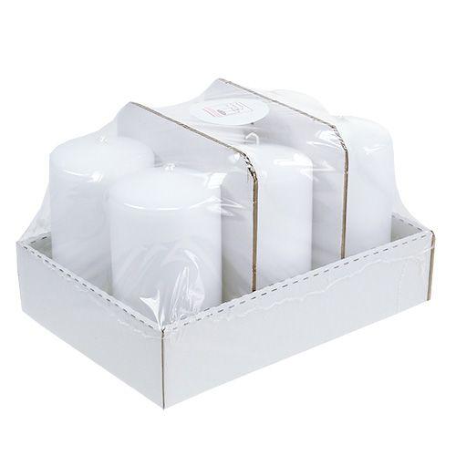 Stumpenkerze 150/80 Weiß 6St