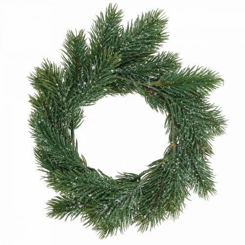 Tannenkranz künstlich Dekokranz Weihnachten Grün, geeist Ø25cm
