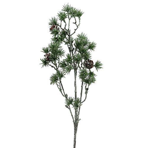 Tannenzweig grün geweißt 46cm