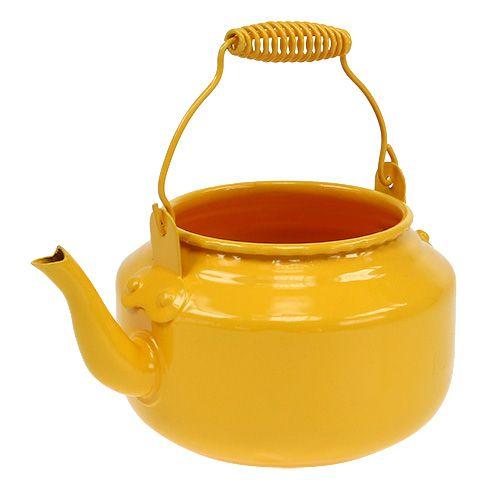 Teekanne Ø9cm H10cm Dottergelb