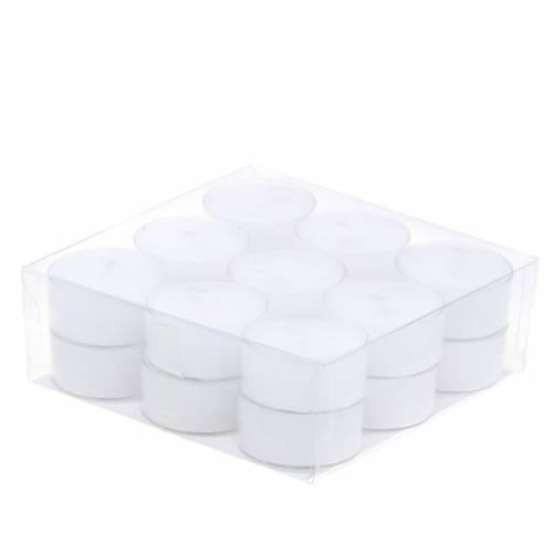 Teelichter Weiß in Kunststoffschale 18St