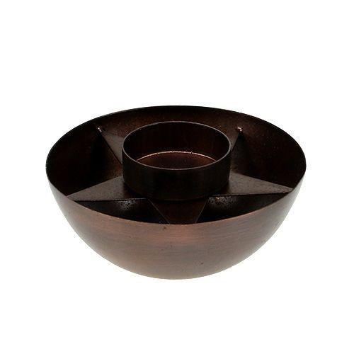 Teelichthalter Braun Ø10cm H4cm
