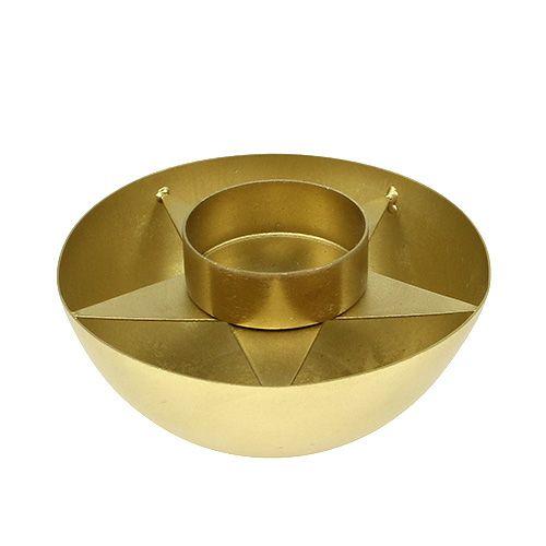 Teelichthalter Gold matt Ø10cm H4cm