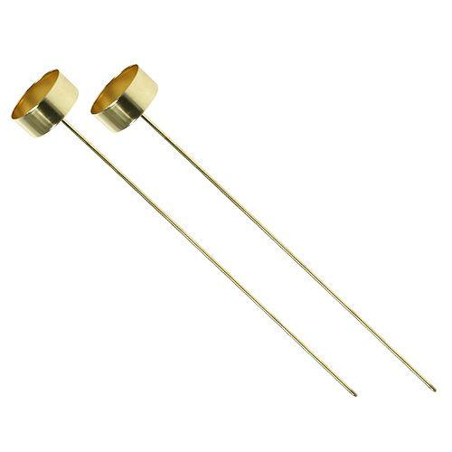 Teelichthalter zum Stecken Gold 31cm