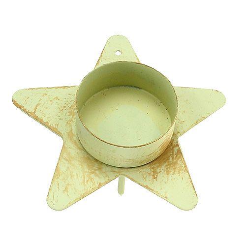 Teelichthalter Creme zum Stecken 10x7cm