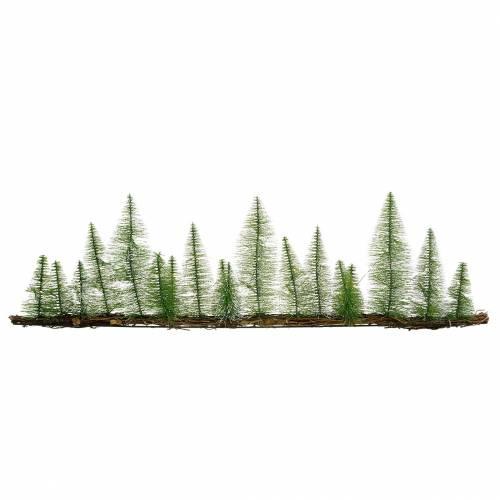 Tischdeko Winterwald mit LED Grün 100cm 60L