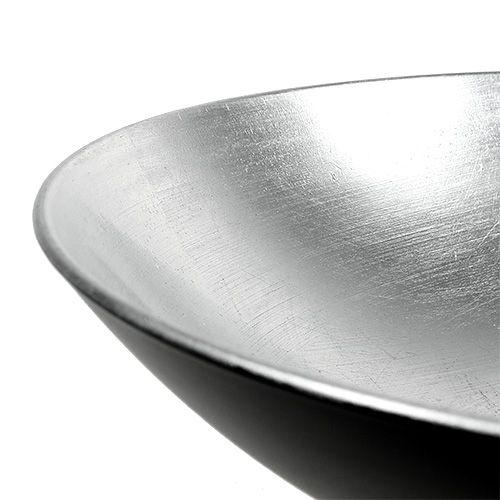 Tischdeko Schale Silber  Ø28cm Kunststoff
