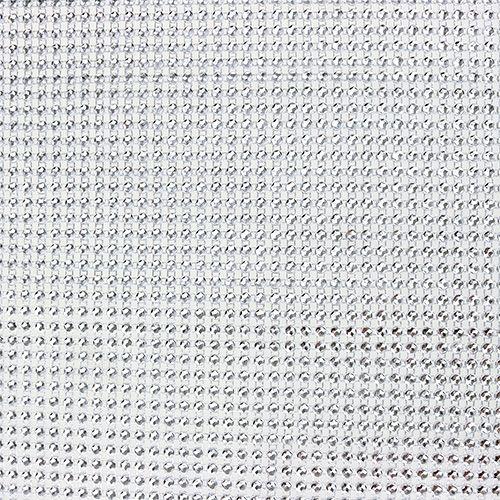 Tischläufer mit Pailletten Hellsilber B25cm L228cm