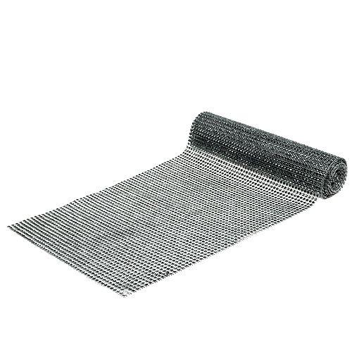 Tischläufer mit Pailletten Silber B25cm L228cm