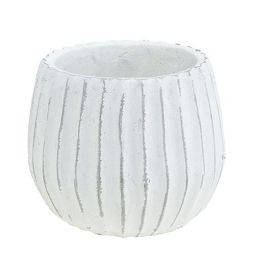 Topf zum Bepflanzen Weiß Ø15cm H13cm