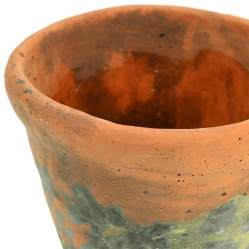 Pflanztopf Übertopf Vintage Natur Ton Ø11,5cm H9cm 3St