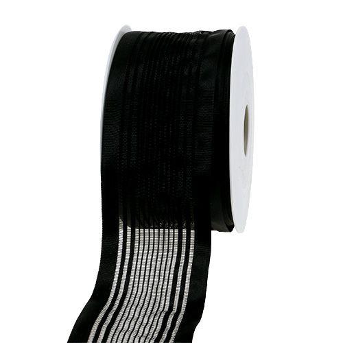 Tüllband, Trauerflor Schwarz 50mm