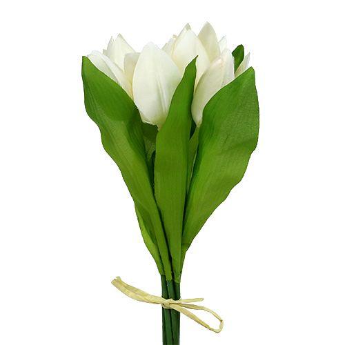 Tulpenbund Weiß mit 7 Tulpen
